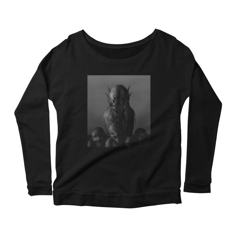 Untitled 84 Women's Scoop Neck Longsleeve T-Shirt by Black Abyss