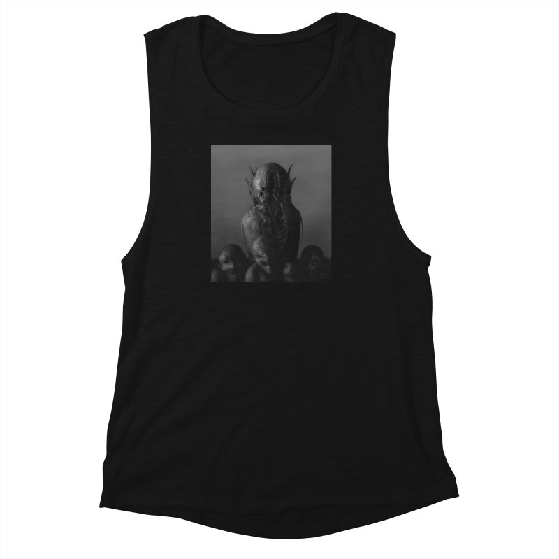 Untitled 84 Women's Muscle Tank by Black Abyss