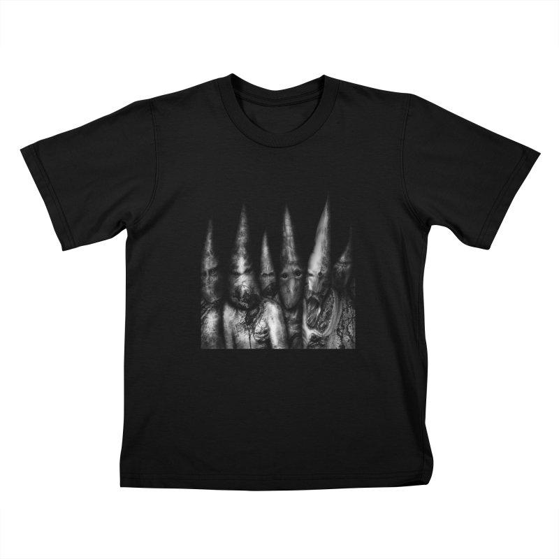 Six Missionaries Kids T-Shirt by Black Abyss