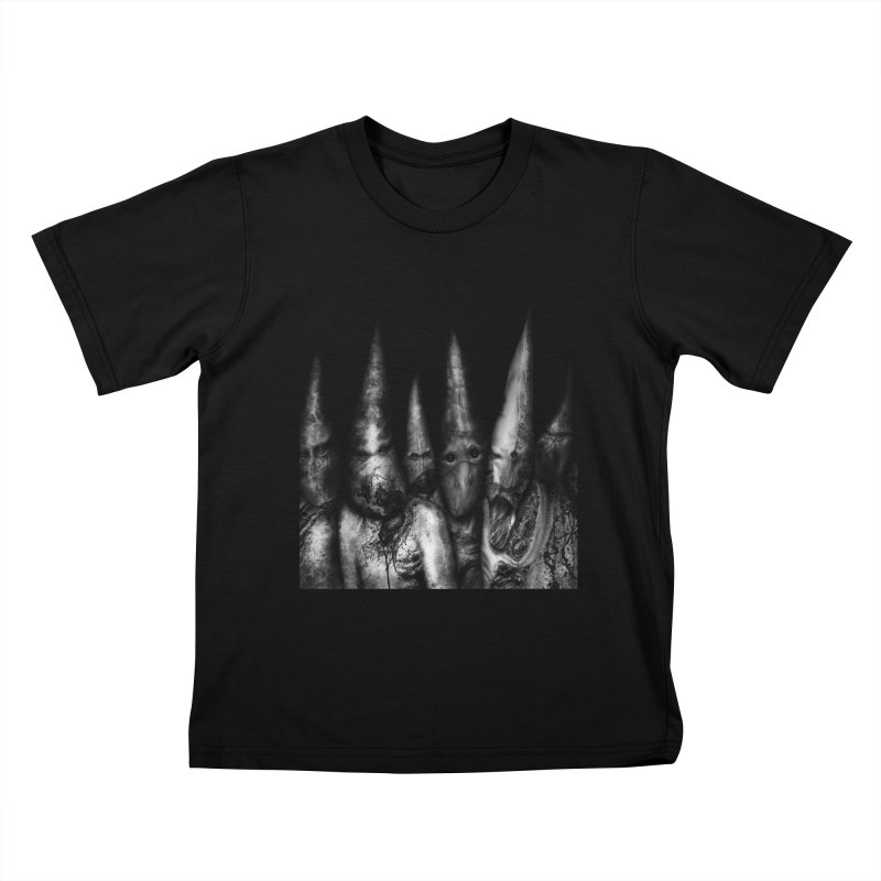 Six Missionaries Kids T-Shirt by Black Abyss