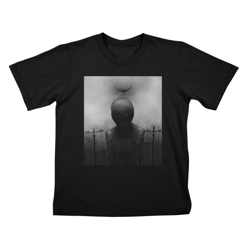 Untitled 54 Kids T-Shirt by Black Abyss