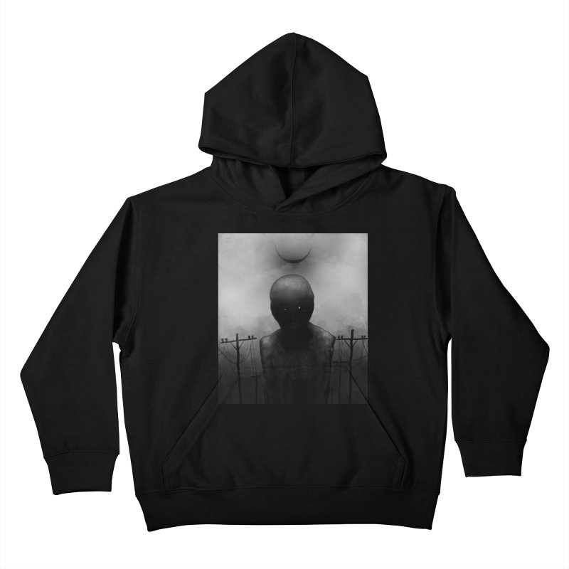 Untitled 54 Kids Pullover Hoody by Black Abyss