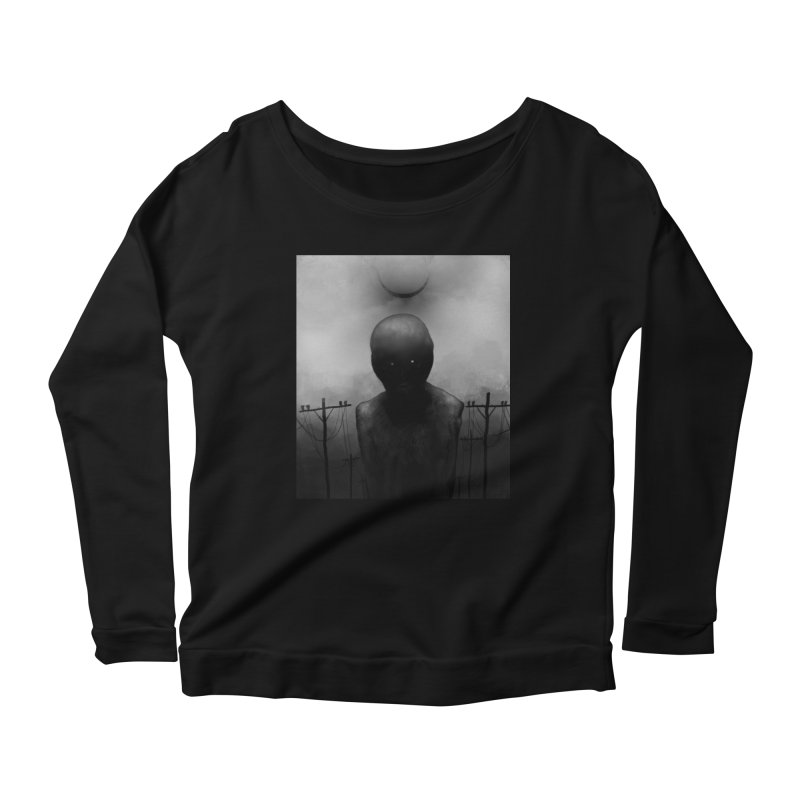 Untitled 54 Women's Scoop Neck Longsleeve T-Shirt by Black Abyss