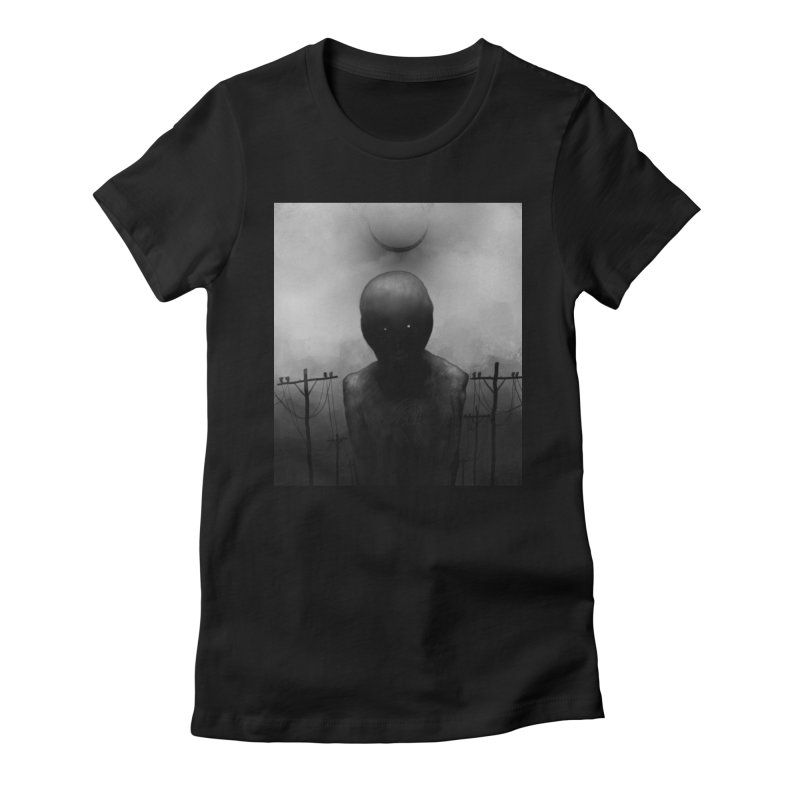 Untitled 54 Women's Fitted T-Shirt by Black Abyss