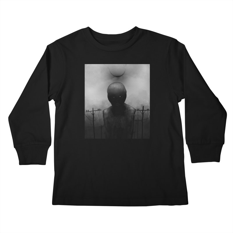 Untitled 54 Kids Longsleeve T-Shirt by Black Abyss