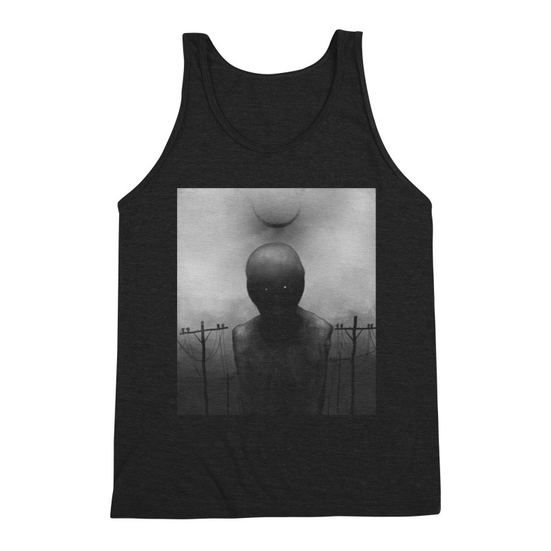 Untitled 54 Men's Triblend Tank by Black Abyss