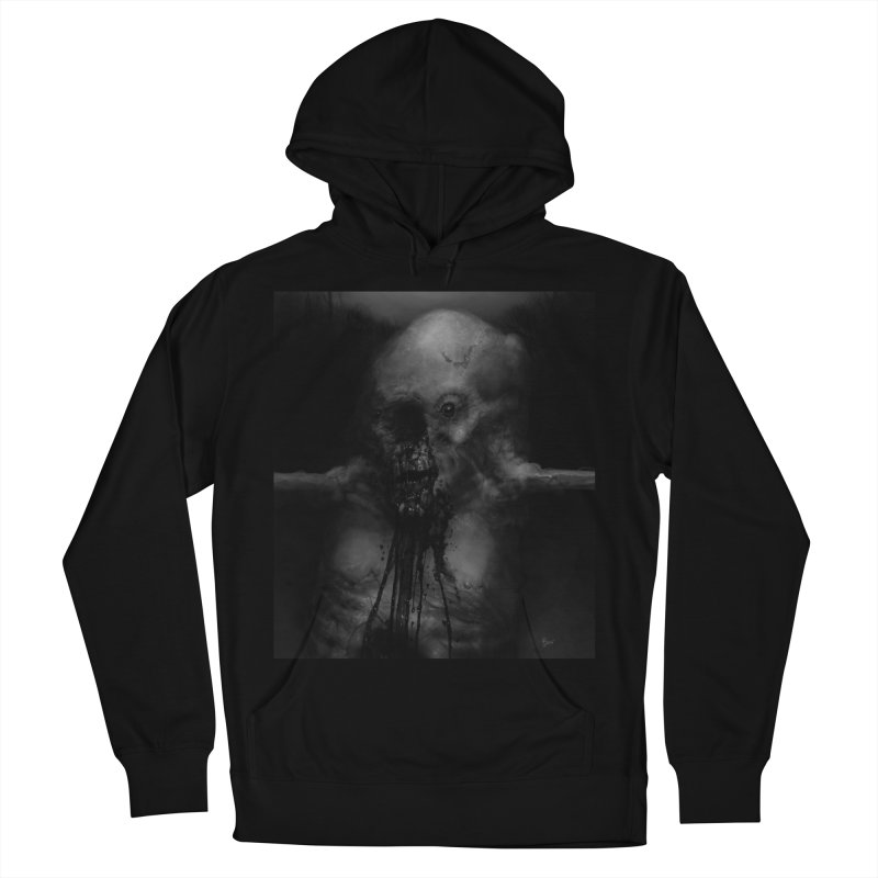 Untitled 75 Women's French Terry Pullover Hoody by Black Abyss