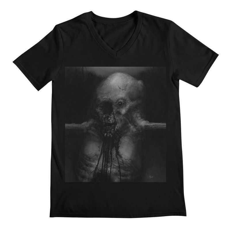 Untitled 75 Men's Regular V-Neck by Black Abyss