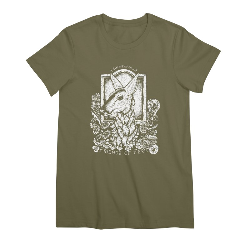 Friends of Fern Women's Premium T-Shirt by Black Banjo Arts