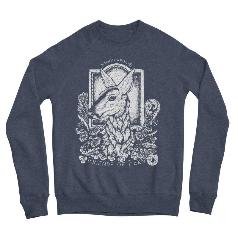 Friends of Fern Men's Sponge Fleece Sweatshirt by Black Banjo Arts