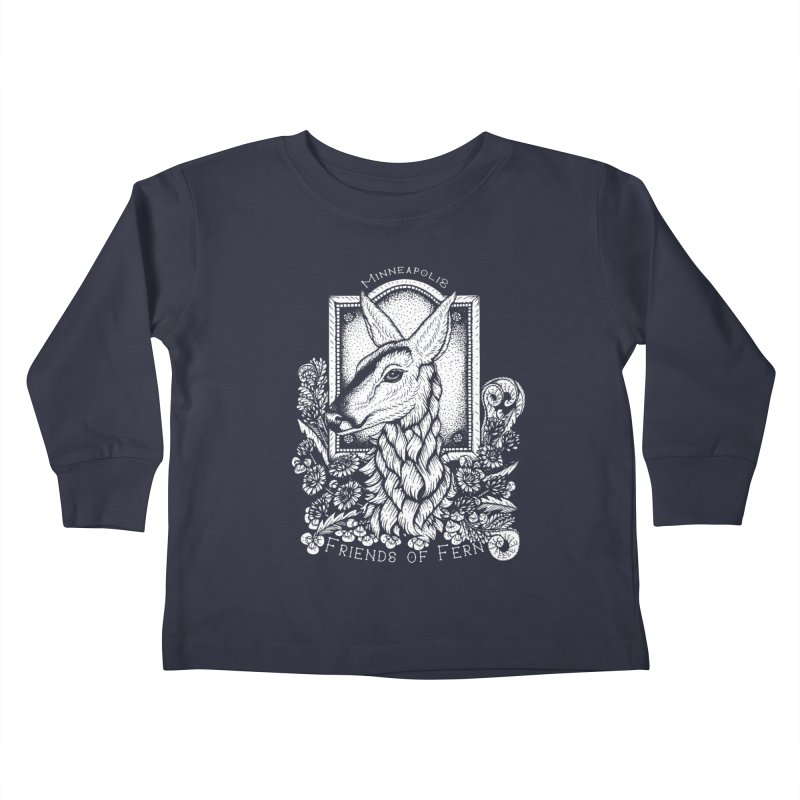 Friends of Fern Kids Toddler Longsleeve T-Shirt by Black Banjo Arts