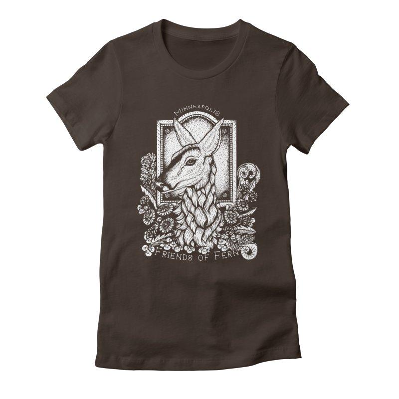 Friends of Fern Women's Fitted T-Shirt by Black Banjo Arts