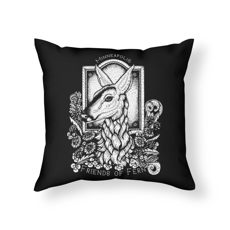 Friends of Fern Home Throw Pillow by Black Banjo Arts