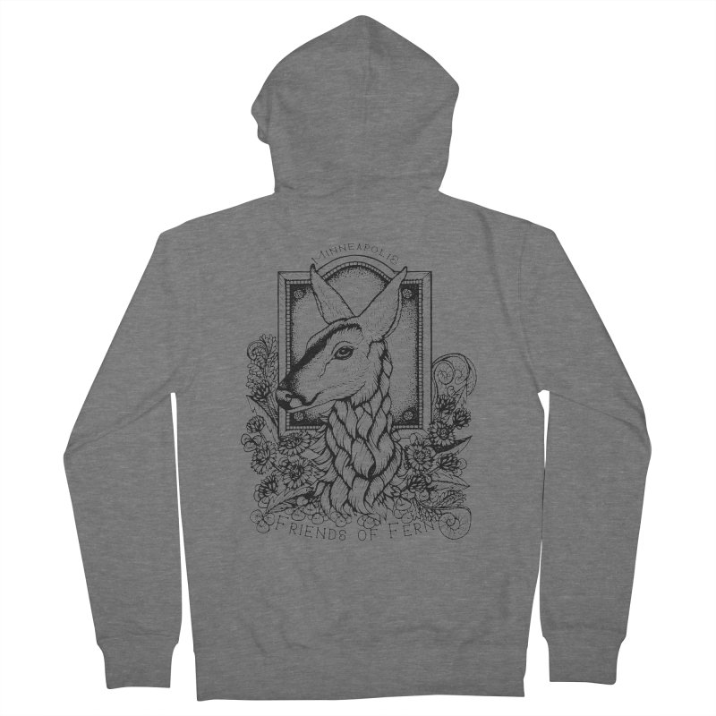 Friends of Fern II Men's Zip-Up Hoody by Black Banjo Arts