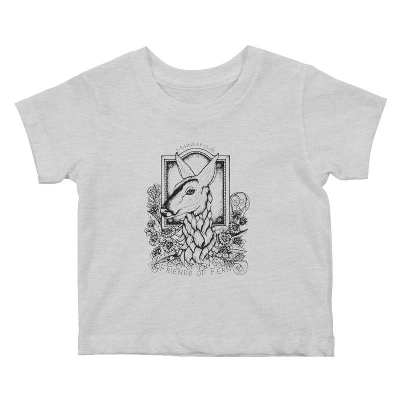 Friends of Fern II Kids Baby T-Shirt by Black Banjo Arts