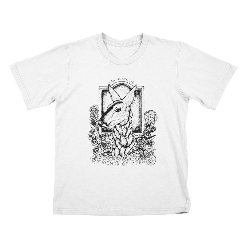 Friends of Fern II Kids T-Shirt by Black Banjo Arts