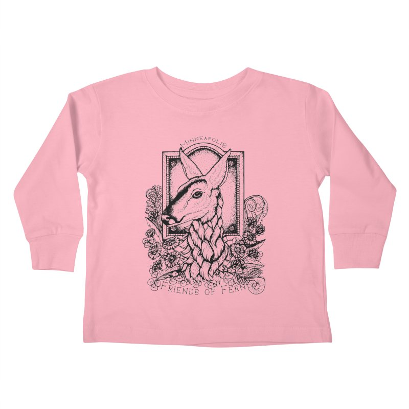 Friends of Fern II Kids Toddler Longsleeve T-Shirt by Black Banjo Arts