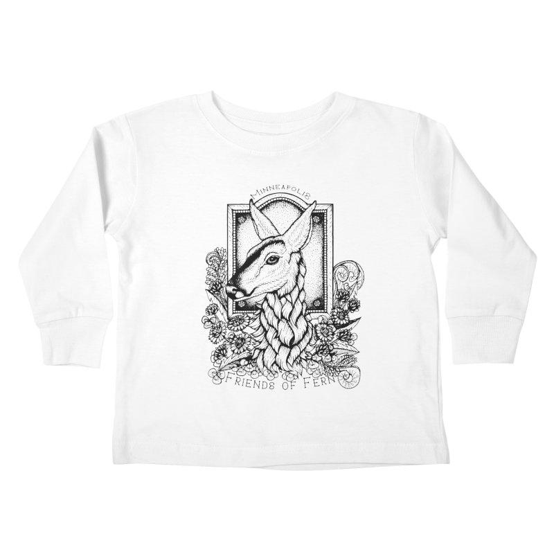 Friends of Fern II Kids Toddler Longsleeve T-Shirt by Black Banjo Arts