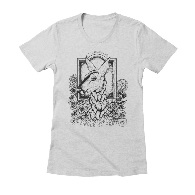 Friends of Fern II Women's Fitted T-Shirt by Black Banjo Arts