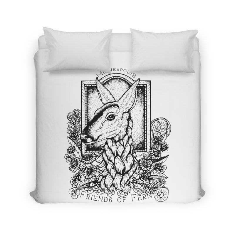 Friends of Fern II Home Duvet by Black Banjo Arts