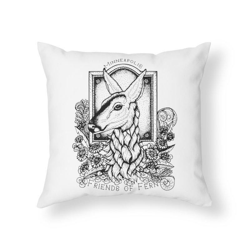 Friends of Fern II Home Throw Pillow by Black Banjo Arts