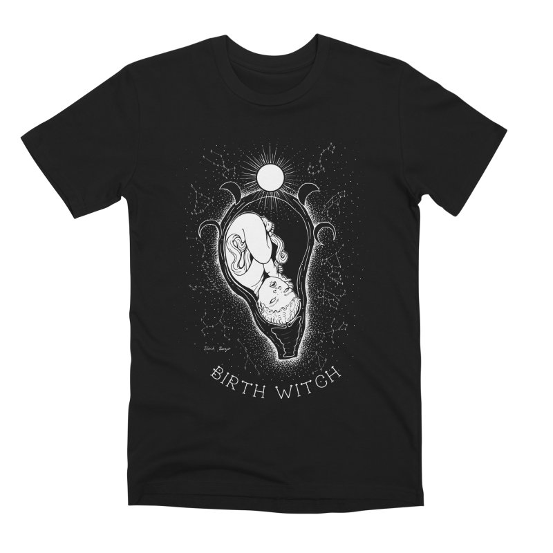 Celestial Birth Witch Men's T-Shirt by Black Banjo Arts
