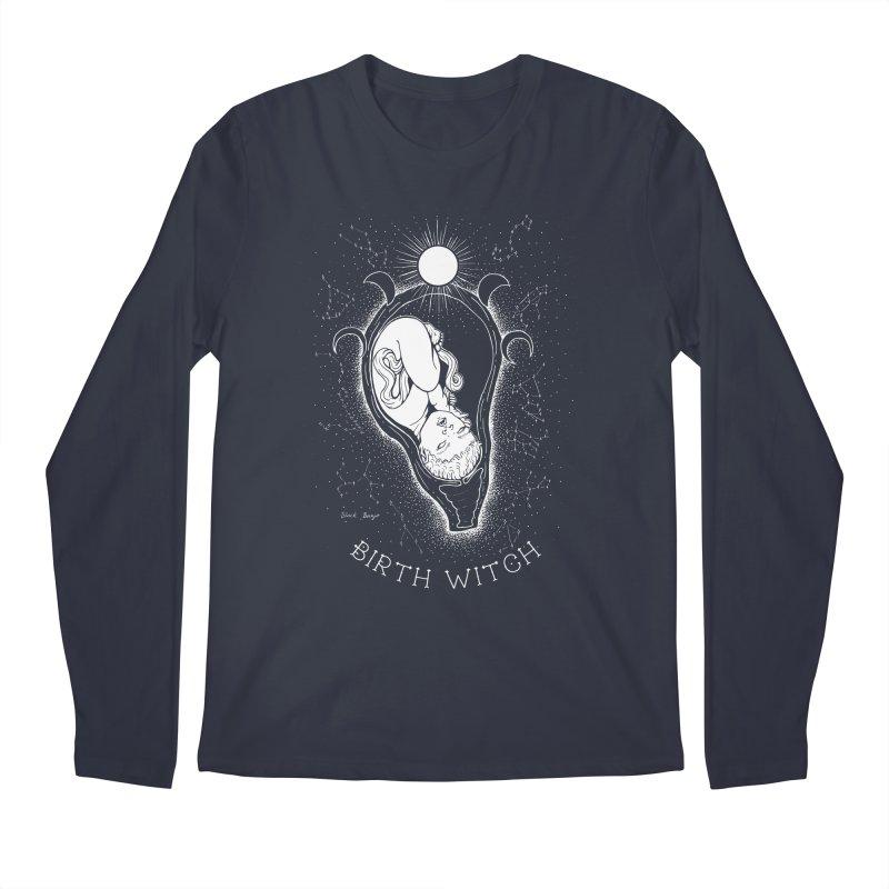 Celestial Birth Witch Men's Regular Longsleeve T-Shirt by Black Banjo Arts