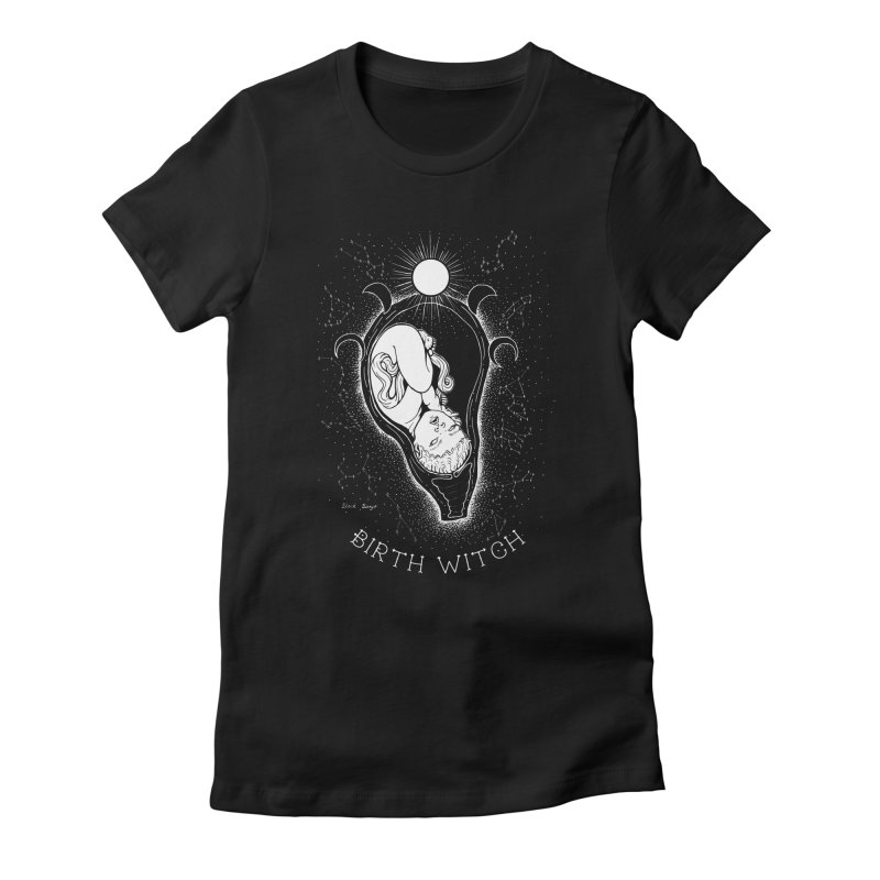 Celestial Birth Witch Women's T-Shirt by Black Banjo Arts