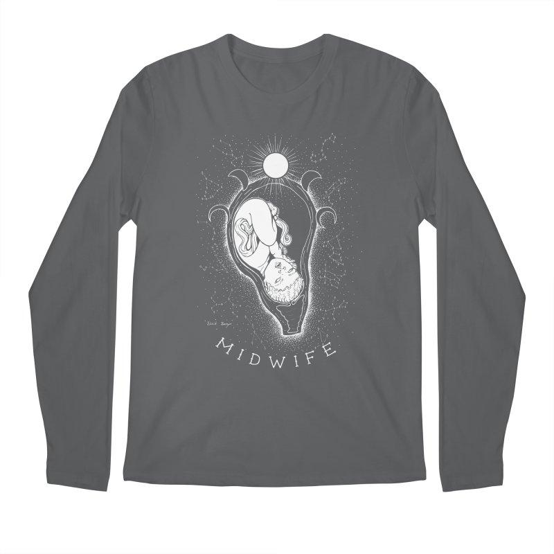 Celestial Midwife Men's Regular Longsleeve T-Shirt by Black Banjo Arts