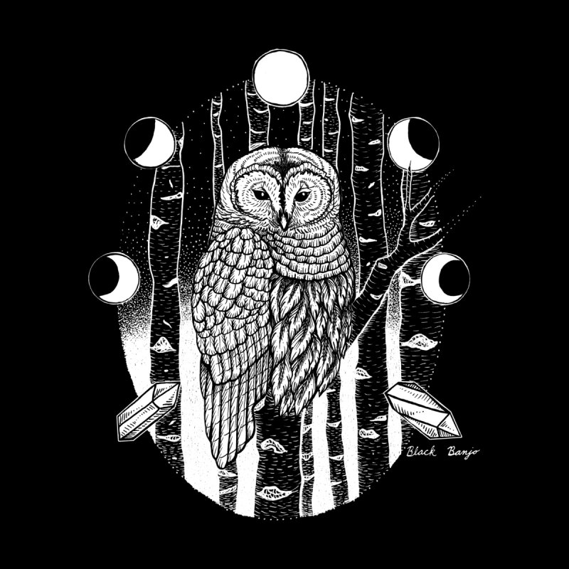 Owl & Birch by Black Banjo Arts