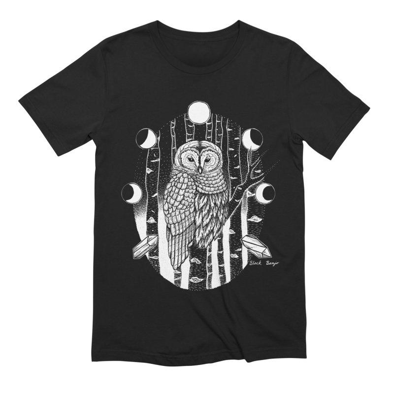 Owl & Birch Men's Extra Soft T-Shirt by Black Banjo Arts