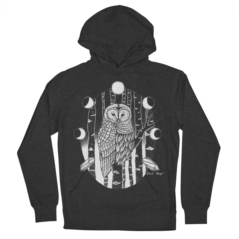 Owl & Birch Men's French Terry Pullover Hoody by Black Banjo Arts