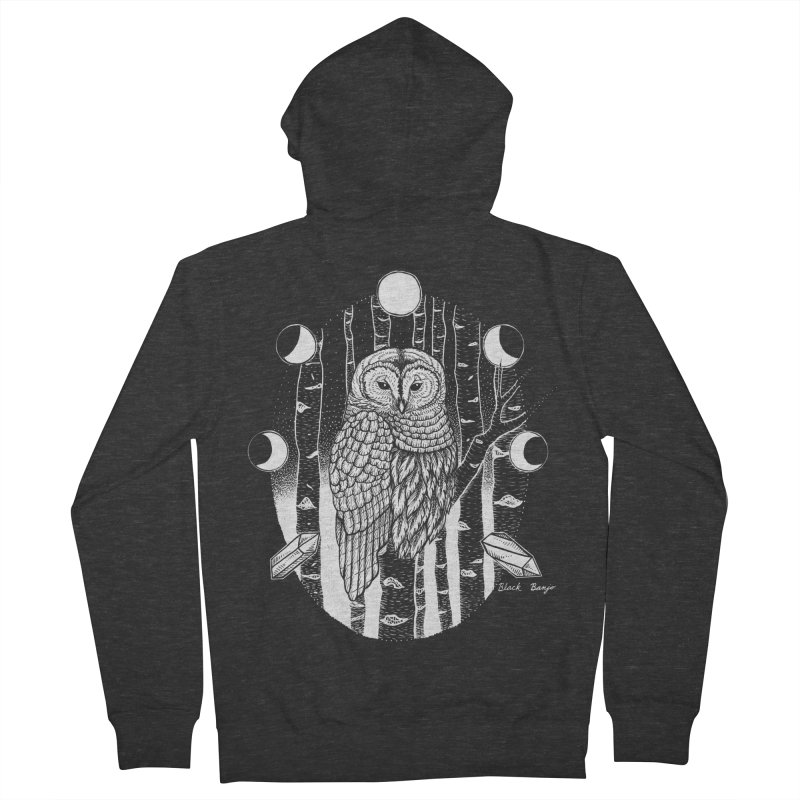 Owl & Birch Men's French Terry Zip-Up Hoody by Black Banjo Arts