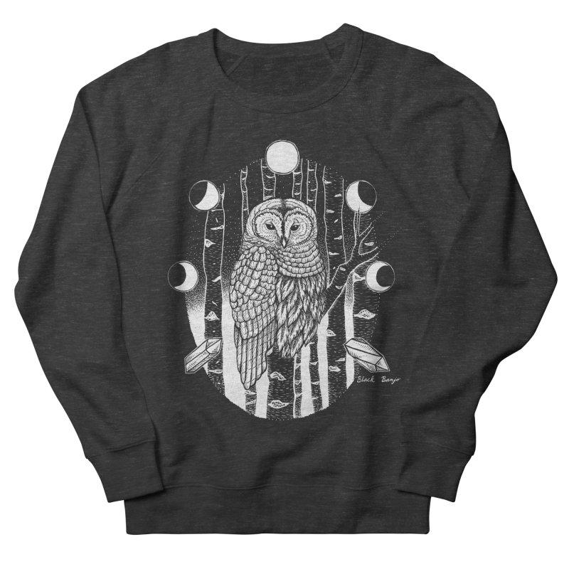 Owl & Birch Men's French Terry Sweatshirt by Black Banjo Arts