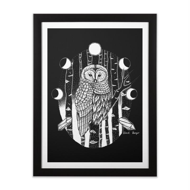 Owl & Birch Home Framed Fine Art Print by Black Banjo Arts