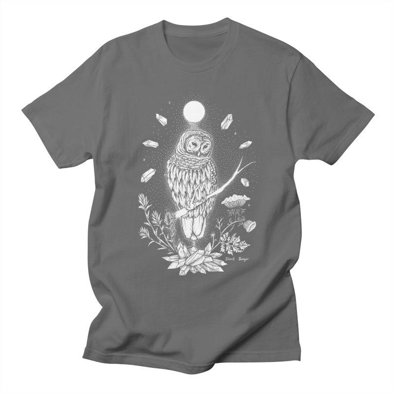 Owl & Crystals Men's T-Shirt by Black Banjo Arts