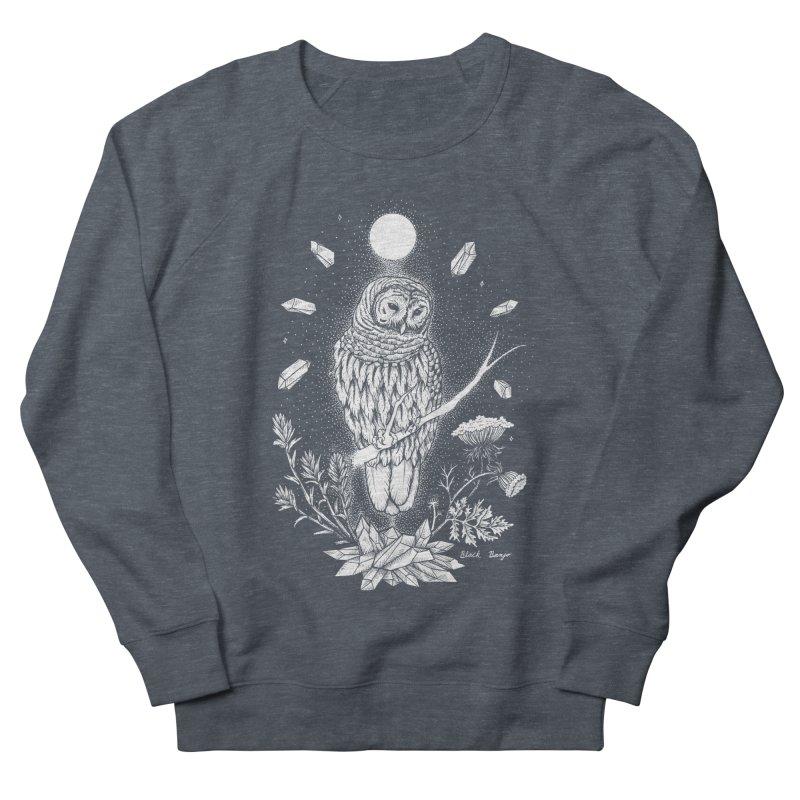 Owl & Crystals Men's French Terry Sweatshirt by Black Banjo Arts