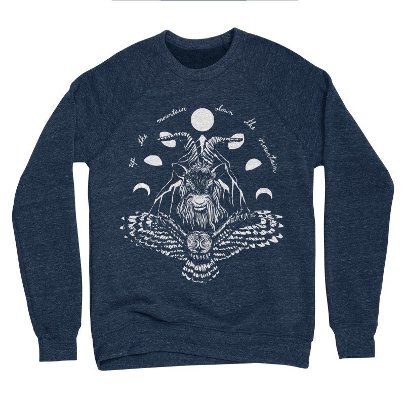 Up The Mountain, Down The Mountain Men's Sponge Fleece Sweatshirt by Black Banjo Arts