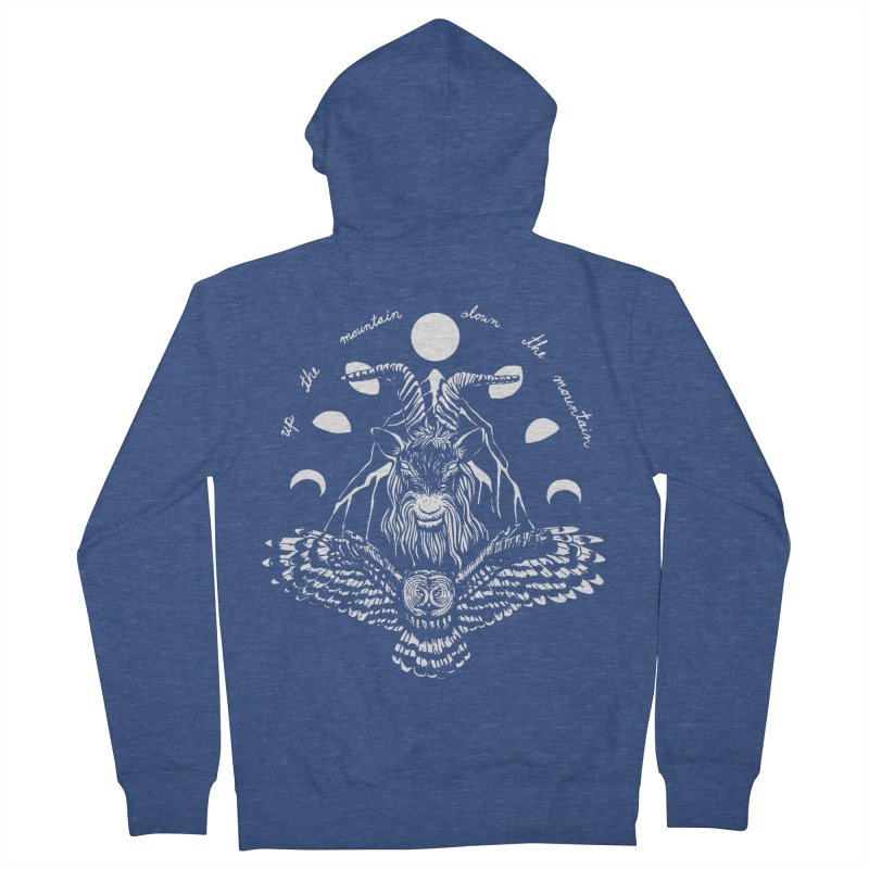 Up The Mountain, Down The Mountain Women's French Terry Zip-Up Hoody by Black Banjo Arts