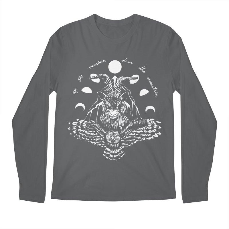 Up The Mountain, Down The Mountain Men's Regular Longsleeve T-Shirt by Black Banjo Arts