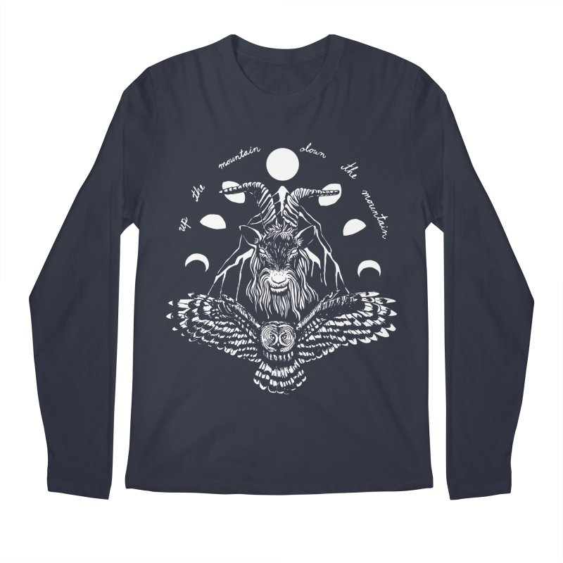 Up The Mountain, Down The Mountain Men's Regular Longsleeve T-Shirt by Black Banjo Arts