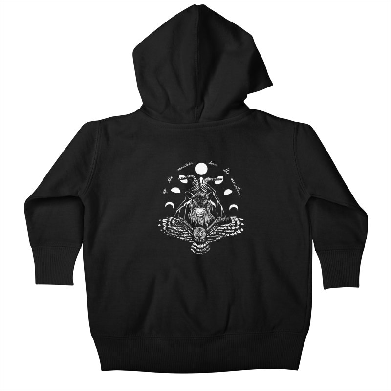 Up The Mountain, Down The Mountain Kids Baby Zip-Up Hoody by Black Banjo Arts