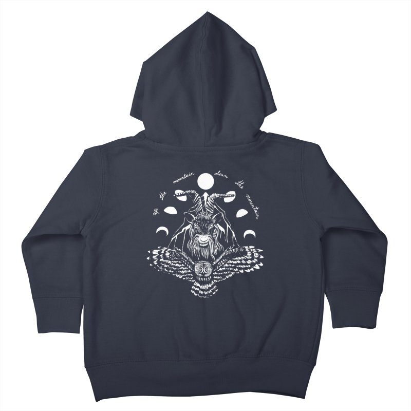Up The Mountain, Down The Mountain Kids Toddler Zip-Up Hoody by Black Banjo Arts