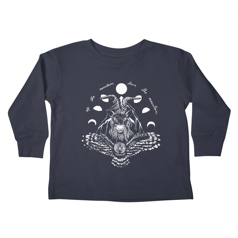 Up The Mountain, Down The Mountain Kids Toddler Longsleeve T-Shirt by Black Banjo Arts