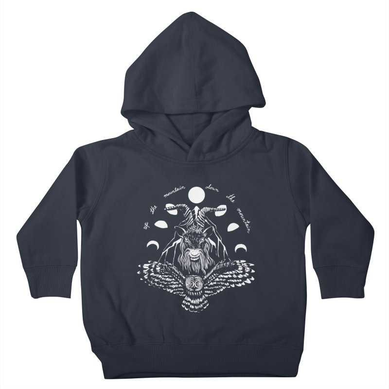 Up The Mountain, Down The Mountain Kids Toddler Pullover Hoody by Black Banjo Arts