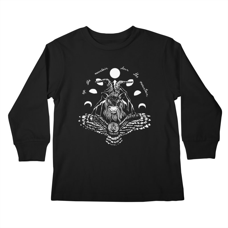Up The Mountain, Down The Mountain Kids Longsleeve T-Shirt by Black Banjo Arts