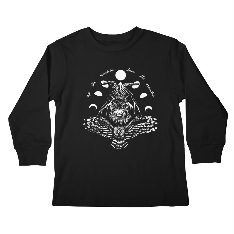 Up The Mountain, Down The Mountain Kids Longsleeve T-Shirt by Black Banjo Arts