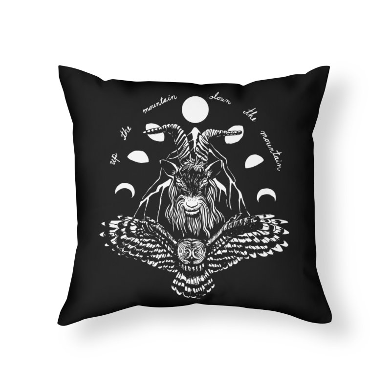 Up The Mountain, Down The Mountain Home Throw Pillow by Black Banjo Arts