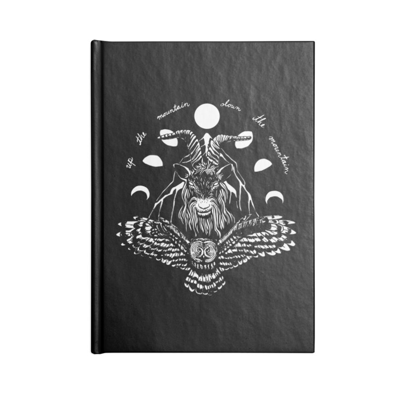 Up The Mountain, Down The Mountain Accessories Blank Journal Notebook by Black Banjo Arts