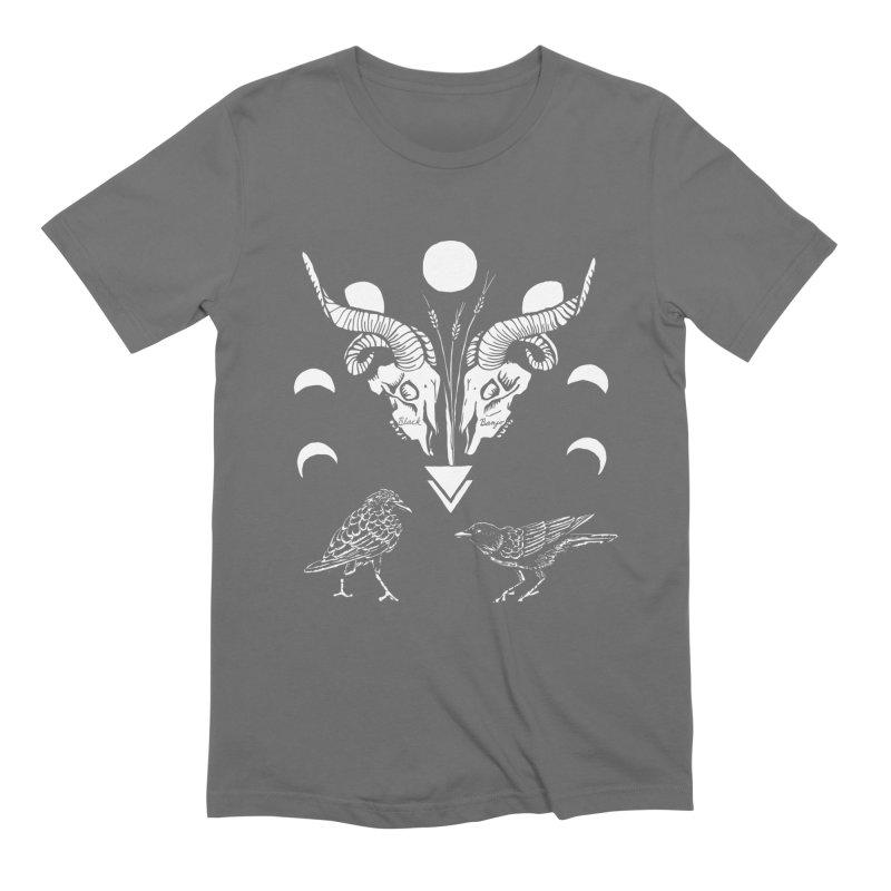 Two Skulls Men's T-Shirt by Black Banjo Arts